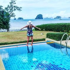 Current view for the week.  Starting 2016 travel at krabi. Staying at this quaint villa with a view out to the tha lane bay.  #infinitypool #thalanebay #khaothong #aonang #krabi #thailand #asia #traveldiaries2016 #traveldiaries #travelblogger #wonderfulplaces #beautifuldestinations #beautifulmatters #sharetravelpics #wanderlustinheels by wanderlustinheels