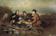 Vasiliy Perov - Hunters during rest. «Охотники на привале», В.Г. Перов