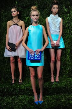 A little aqua shift from Kate Spade Spring 2014
