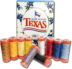 Quilt Across Texas Aurifil Thread Kit who wouldn't want this. I have fingers grossed that I win this especially since it's my birthday today... Awesome thread...