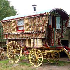 An album full of Gypsy Wagons and People