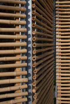 Bamboo House, passive house by Karawitz Architecture - - Bamboo Architecture, Architecture Details, Tropical Architecture, Bamboo House Design, Bamboo Building, Bamboo Structure, Bamboo Construction, Houses In France, Bamboo Crafts