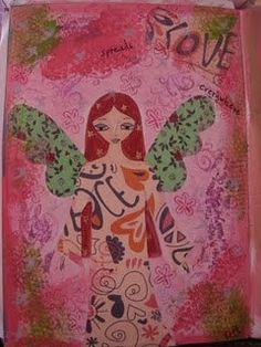 She Spreads Love Everywhere  original by a Pink Dreamer by eltsamp, $70.00