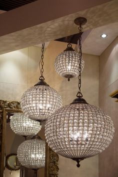 Crystal ball pendants, Classic pendants chandeliers, Classic lighting, Classic period lighting, Holloways of Ludlow Round Crystal Chandelier, Globe Chandelier, Crystal Ball, Chandelier Lighting, Crystal Lights, Pendant Lights, Crystal Pendant, Chandelier Staircase, Lantern Lighting