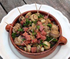 Champiñones al ajillo con jamón - Receta de aperitivo - El Aderezo - Blog de Cocina