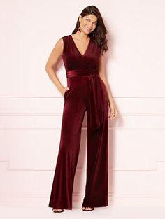 8f539b51401 Kaia Velvet Jumpsuit - Eva Mendes Party Collection