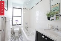 Before & After: A Battered Brooklyn Bathroom Goes Back to its Roots — Sweeten