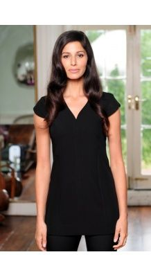 Classic V-Neck tunic with paneling for flattering fit