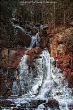 Buttermilk Falls - Lehigh Gorge State Park Pennsylvania [OC] [1830 x 2742]