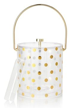 Gold dot ice bucket