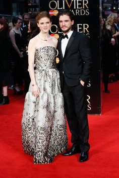 Pin for Later: Kit Harington and Rose Leslie Make Their Relationship Red Carpet Official