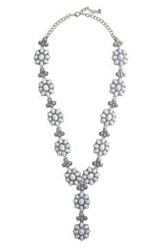 Main Image - BaubleBar Magnolia Y-Necklace Nordstrom Half Yearly Sale, Lariat Necklace, Magnolia, Jewelry Accessories, Style Inspiration, Stone, Diamond, Stuff To Buy, Image