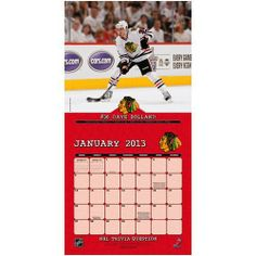 Perfect Timing - Turner 12 X 12 Inches 2013 Chicago Blackhawks Wall Calendar Nhl Chicago, Chicago Blackhawks, School Photos, Perfect Timing, Baseball Cards, Wall Calendars, Sports, Action, Sport