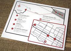 Custom Event Map by Annamalie on Etsy