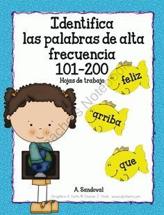 Identify High Frequency Words 101-200 in Spanish product from Angelica Sandoval on TeachersNotebook.com