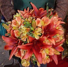 Copper Lily and Alstroemeria Bouquet
