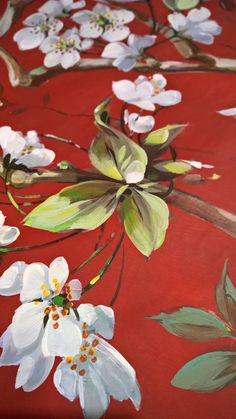 """Hand painted detail For Nina""""s home fabrics"""