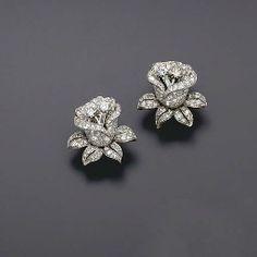 Jewelry Earrings Rose flower handmade stud earrings solid 925 sterling silver jewelry women new Ear Jewelry, Diamond Jewelry, Gold Jewelry, Jewelry Accessories, Fine Jewelry, Jewelry Design, Women Jewelry, Fashion Jewelry, Cz Jewellery