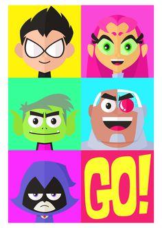 Teen Titans Go!!! Artwork by: iamgeddy