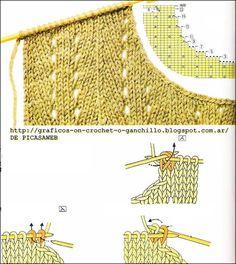 Cable Knitting Patterns, Knitting Basics, Knitting Stiches, Knitting Charts, Lace Knitting, Knitting Designs, Knit Patterns, Knitting Projects, Crochet Stitches