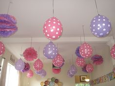 Diy Tissue Poofs U0026 Upside Down Balloons...great For Cheap U0026 Easy Party