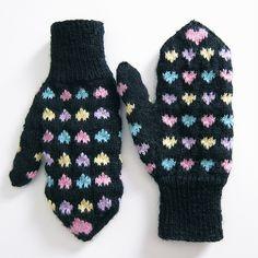 Knit Pattern Heart Mittens : FREE Crochet & Knitting Patterns & Tutorials on Pinterest Free Knit...