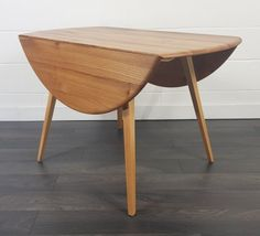 Round Dining Table, Dining Area, Dining Chairs, Ercol Furniture, Storage Mirror, Drop Leaf Table, 1960s, Mid Century, Leaves