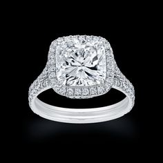 Cushion Cut Diamond Cartier Rings Pictures
