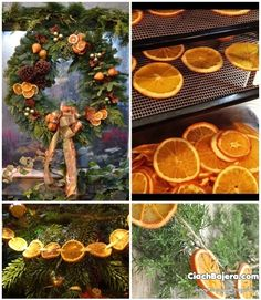 Świąteczne ozdoby z suszonych plasterków pomarańczy