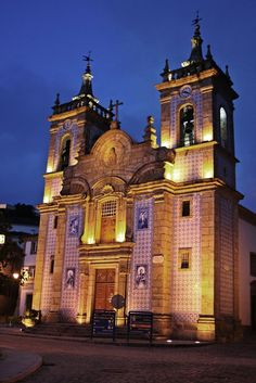 Church that hubby's family got married in! In Gouveia, Portugal