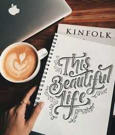 """""""This Beautiful Life"""" - Stunning lettering by @_lauraebennett // #typographyinspired"""