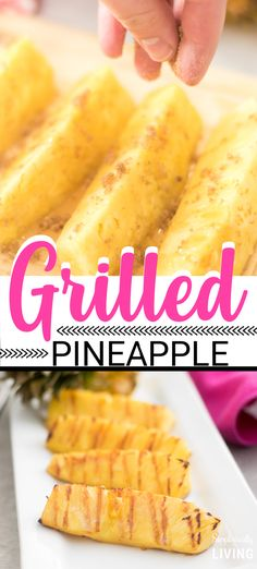 This Easy Grilled Pineapple Recipe can be made in just a few minutes using fresh pineapple, honey, brown sugar and butter. It is the perfect recipe for grilling season! Pineapple Recipes Easy, Grilled Pineapple Recipe, Pineapple Desserts, Grilled Fruit, Grilled Desserts, Summer Grilling Recipes, Summer Recipes, Grill Recipes, Traeger Recipes