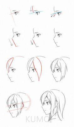 anime head reference drawing in drawings, guy drawing - anime drawing tutorial Anime Drawings Sketches, Pencil Art Drawings, Anime Sketch, Cute Drawings, Horse Drawings, Manga Drawing Tutorials, Drawing Techniques, Drawing Tips, Art Tutorials
