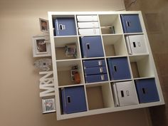 Ikea expedite office organization and storage - inexpensive and clean way of organizing your office.