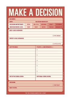 £5.95 Make a Decision Pad: Amazon.co.uk: Knock Knock: Books