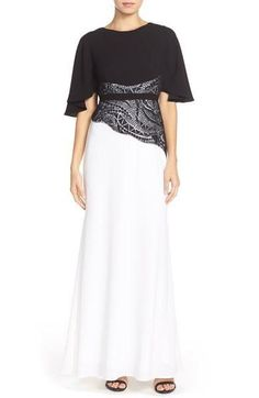 BCBG Max Azria Elayna Lace Embroidered Gown