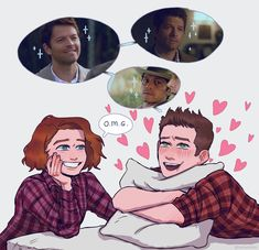 Supernatural Cartoon, Supernatural Fan Art, Castiel, Decimo Doctor, Destiel Fanart, Foto Gif, Cockles, Great Love Stories, Cute Gay