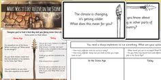 KS2 The Stone Age- Stone Age Challenge Cards Activity Pack