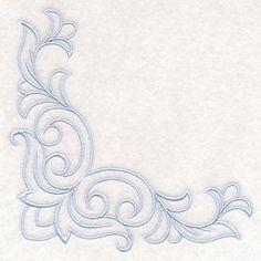 Delicate Filigree Corner design (M13299) from www.Emblibrary.com