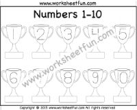 Number Tracing – – Trophy – One Worksheet / FREE Printable Worksheets – Worksheetfun Numbers Preschool, Free Preschool, Preschool Activities, Printable Preschool Worksheets, Free Printables, Tracing Worksheets, English Grammar For Kids, Number Tracing, Alphabet And Numbers
