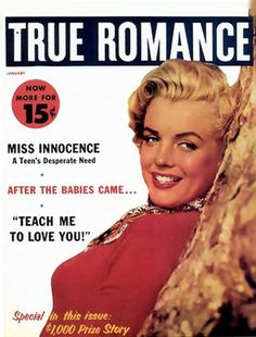 Marilyn Monroe True Romance Cover - www.MadMenArt.com | Actress, model, singer…