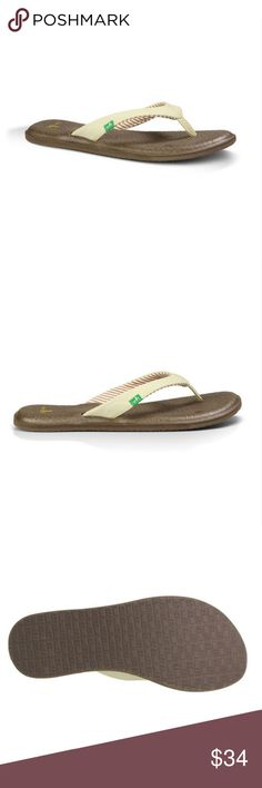✨NWT✨ Sanuk Yoga Chakra Sandals Synthetic strap with striped jersey lining and nylon webbing toe post Footbed made from real yoga mat with a sealed edge Happy U rubber sponge outsole Fits true to women's sizing. Sanuk Shoes Sandals