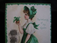 Early 1900 St Patricks Day The Wearing Of The by thelongacreflea, $7.00