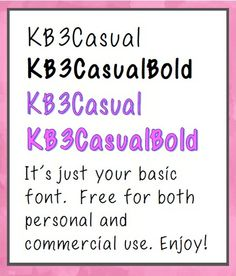 FONTS: FREE for personal and commercial use.