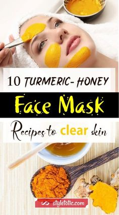 Looking for a way to make your skin radiant and beautiful? Check out this turmeric honey face mask recipes, then get a glowing and clear skin in no time Diy Tumeric Face Mask, Tumeric Masks, Honey Facial Mask, Facial Masks, Clear Face, Clear Skin, Turmeric And Honey, Mask For Dry Skin, Diy Kleidung