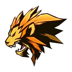 I like the art style on this one. If we can get a non-roaring version would be cool. Maybe a sub or bit badge Logo Desing, Game Logo Design, Logo D'art, Art Logo, Logo Black Panther, Logo Lion, Logo Animal, Esports Logo, Mascot Design