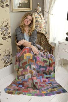 Modern Miters Afghan in Lion Brand Amazing - Discover more Patterns by Lion Brand at LoveKnitting. The world's largest range of knitting supplies - we stock patterns, yarn, needles and books from all of your favorite brands. Afghan Crochet Patterns, Knitting Patterns Free, Free Knitting, Free Pattern, Knit Patterns, Crochet Afghans, Manta Crochet, Knitting Supplies, Lion Brand Yarn