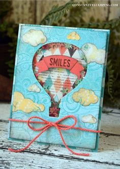 Shaker Card - SU - Cupcakes & Carousels DSP Stack along with the Lift Me Up stamp set and coordinating thinlit dies - Shaker Up Balloons, Air Balloon, Carousel Birthday, Slider Cards, Scrapbooking, Stamping Up Cards, Kids Cards, Boy Cards, Masculine Cards