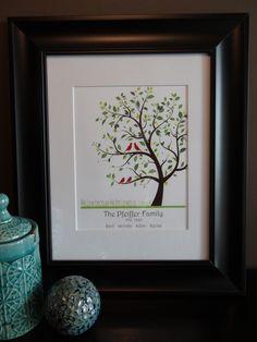 Personalized Family Tree Great Gift Idea Order at:  etsy.com/shop/MDesignCompany