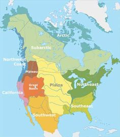 Map of Native American tribes in North America